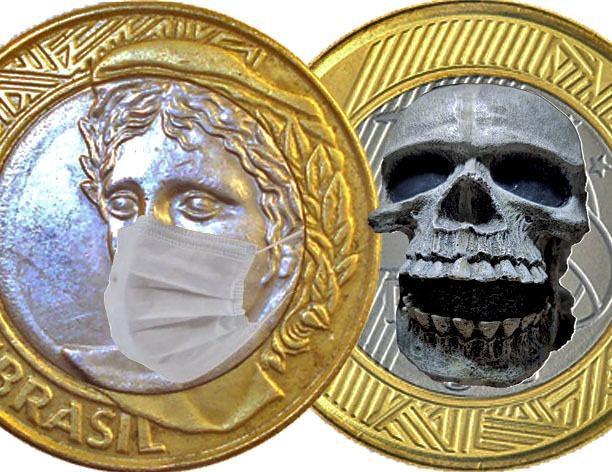 as cara e coroas do vírus